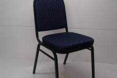 židle banketová s modrým polstrováním, pronájem Štefek