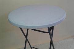 bistrostolek, plastový povrch, stanby stolek, pronájem Štefek