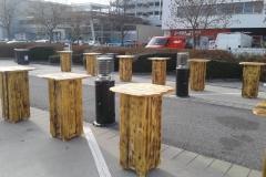 dřevěné bistrostolky, standby stolky, zářiče, zařízení, pronájem Štefek