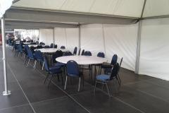 kulaté stoly průměr 180, židle, zařízení, pronájem Štefek