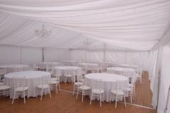 pártystan svatební, textilní výzdoby, zařízení, pronájem Štefek (2)